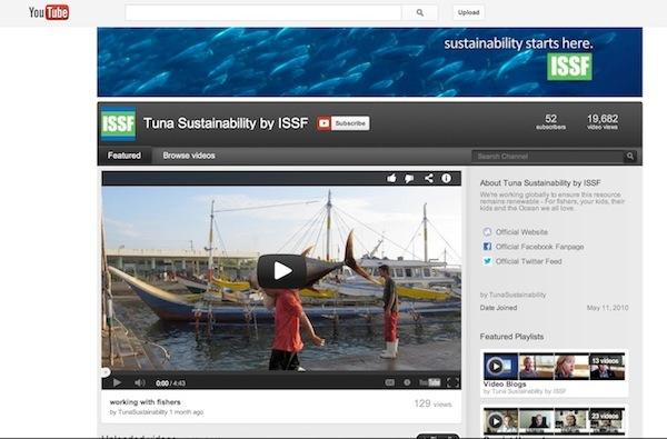 ISSF YouTube page:  youtube.com/user/TunaSustainability