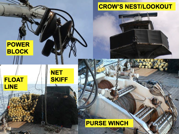 Fishing gear: For details about the vessel's fishing gear (e.g., the power block, purse winch), you need to ask the chief engineer or winch man, or ask for the equipment manual. (Photo: SPC)