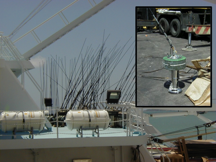 Radio buoys with inclined antennae (which can reduce their detection by other vessels) (Photo: SPC)