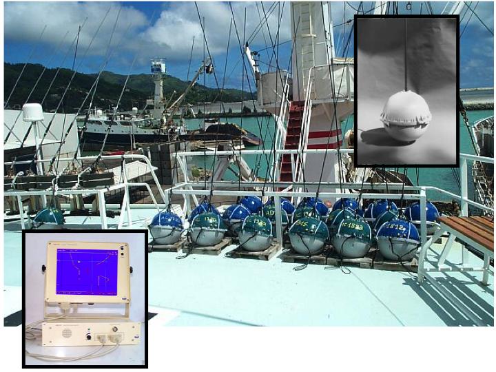 Serpe-type, GPS-tracking radio buoys (Photo: SPC)