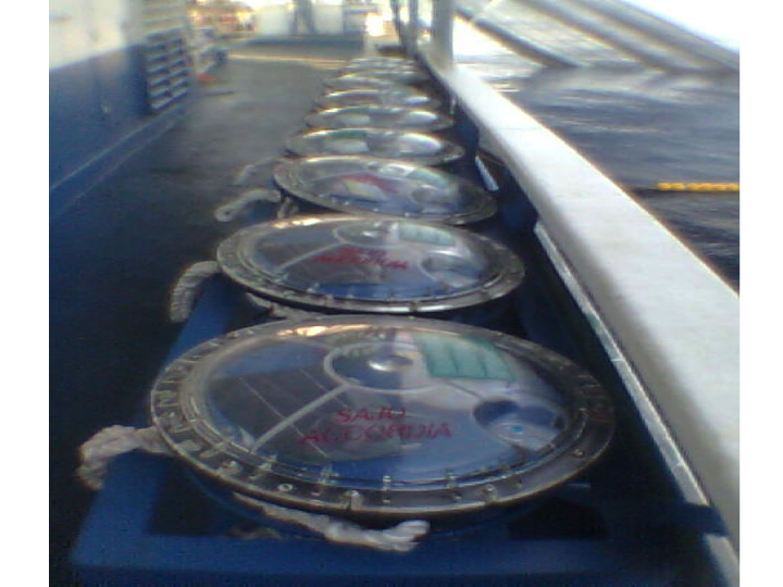 Solar-powered sonar buoys ready for deployment (Photo: SPC)