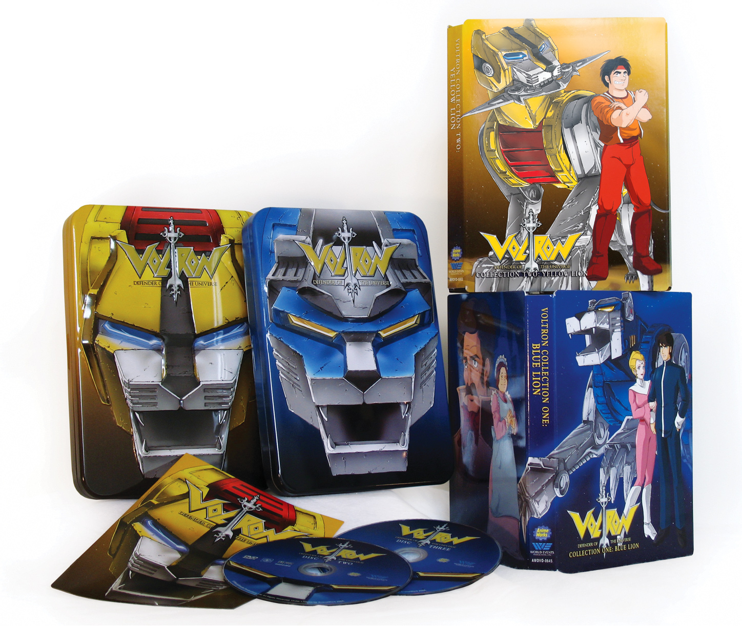 Voltron tins with Digi pack