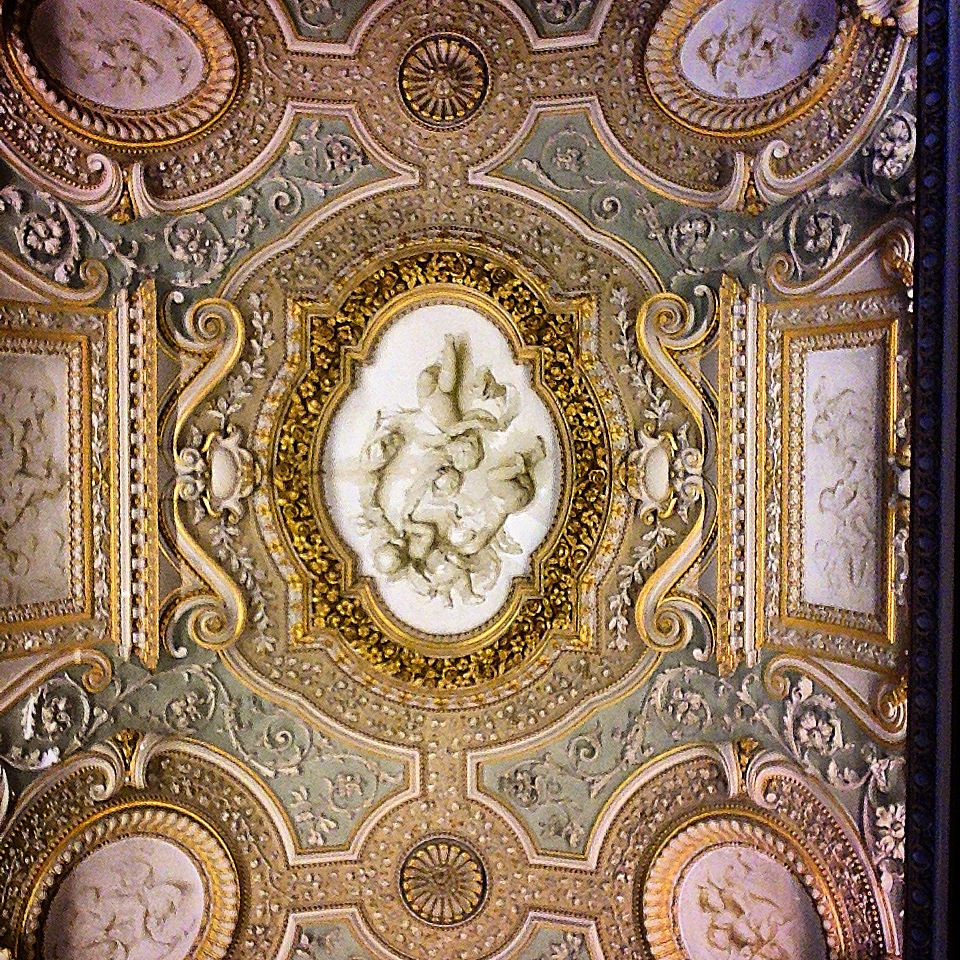 My husband's 1st week in Rome. (This is his office's hallway ceiling.)