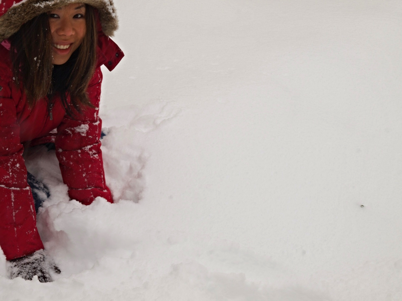 Me,during one of Washington D.C.'s many Snowpocalypses (aka a balmyBoston winter).
