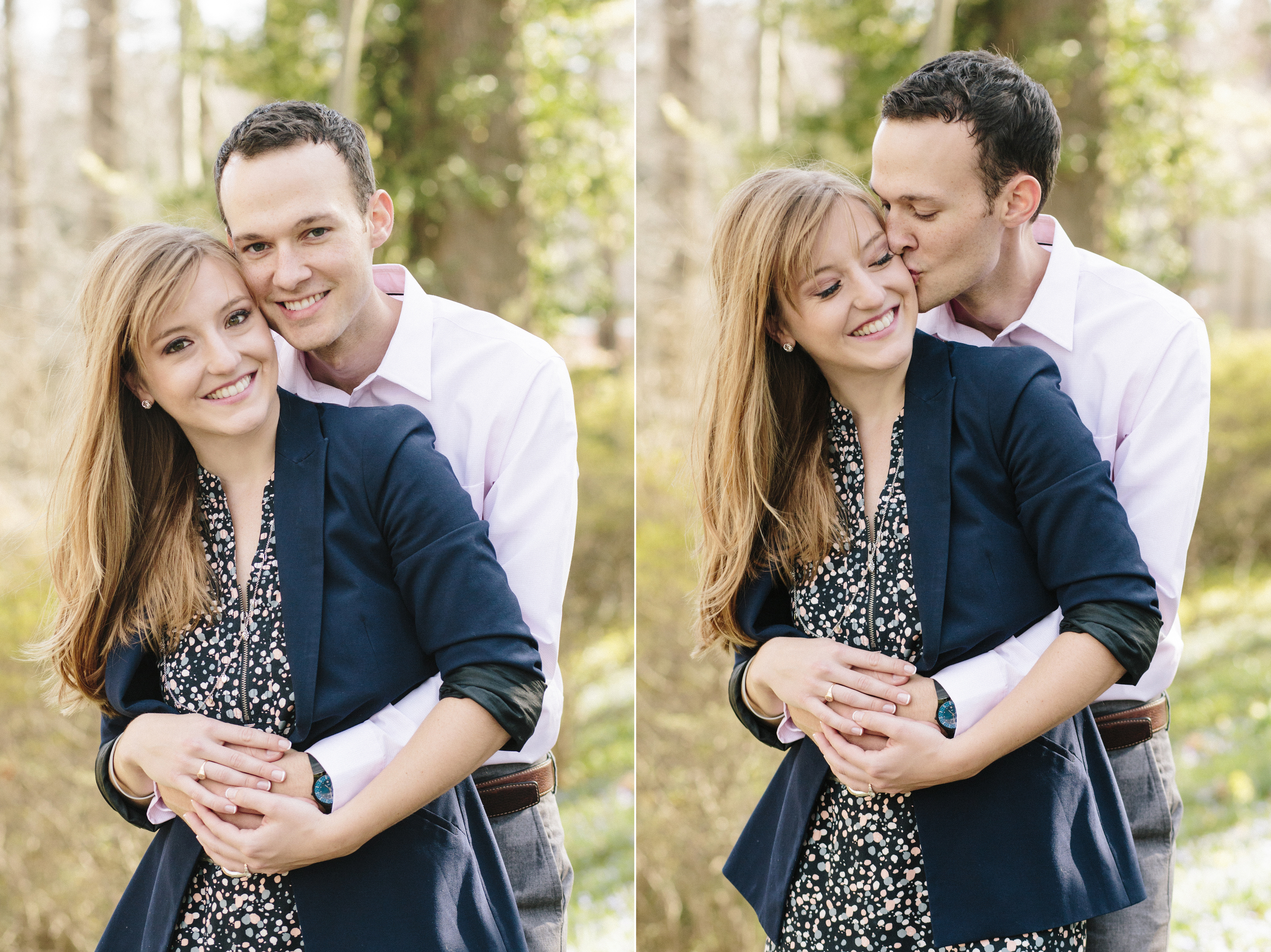 Sarah and Matt's engagement photos were taken at the Greenville, Delaware duPont estate Winterthur by Hudson Nichols photography.
