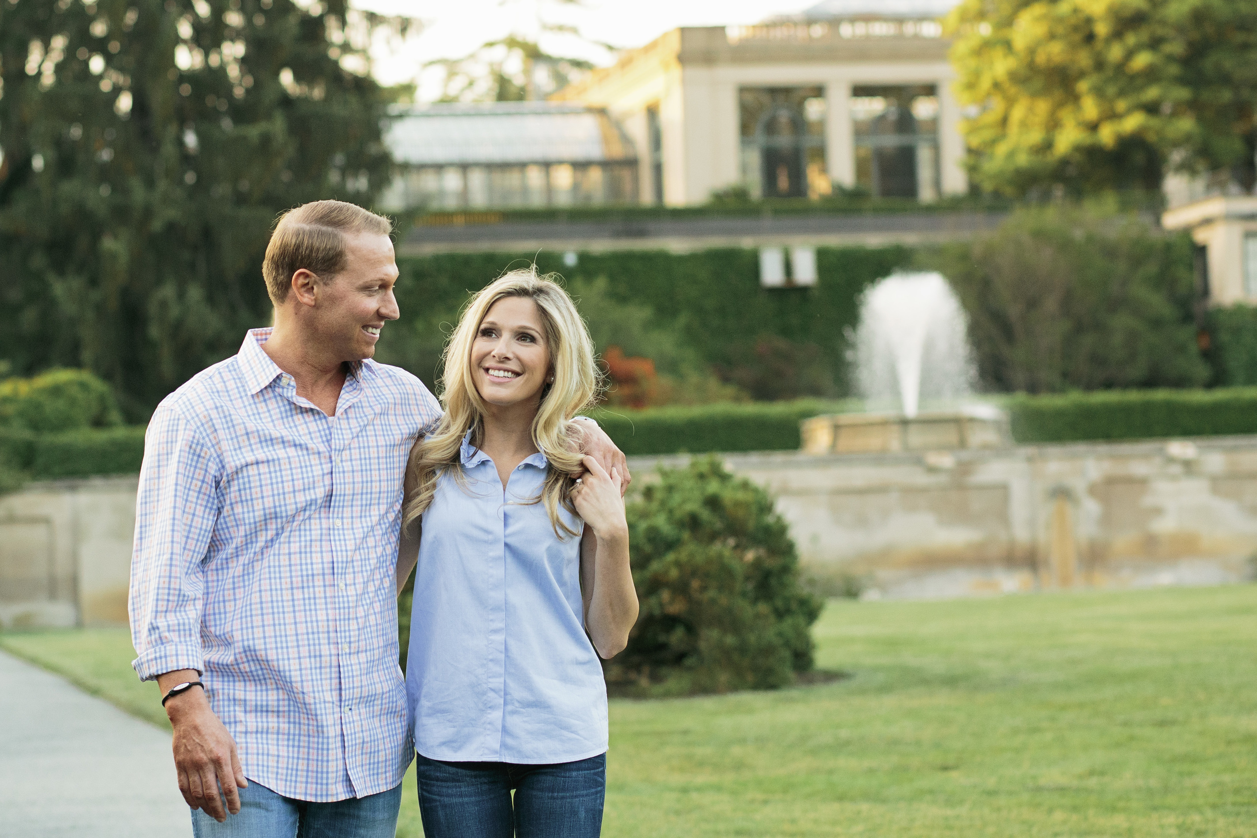 Chad and Amy's engagement session was photographed at the beautiful Longwood Gardens in Longwood, Pennsylvania by Hudson Nichols photography.