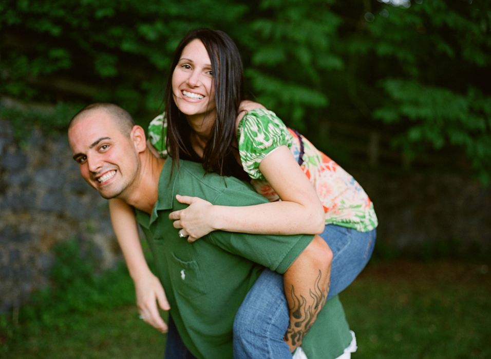 Alison and Bryan's engagement session was photographed on film in Delaware's bellevue state park by Hudson Nichols photography.