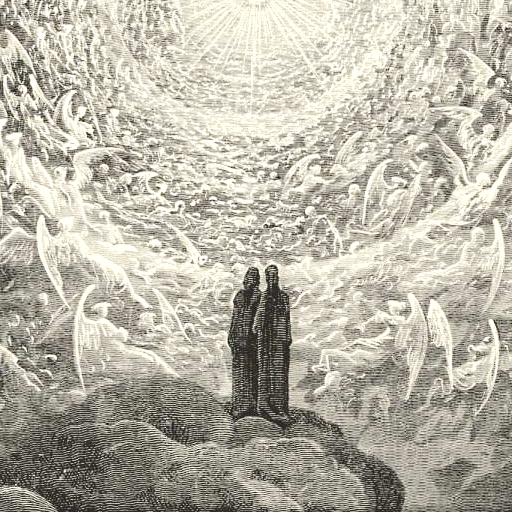 Gustave Doré,  Canto 31,  1868  ,  engraving illustration for   The Divine Comedy;  detail