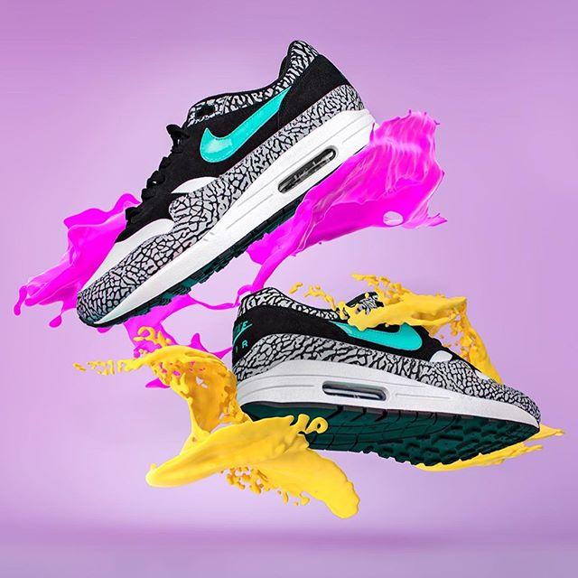 splish splish splash 💦  #Airmax1everyday #sneakeraddict #sneakerhead #freshkicks #airmax #nike #sneakers #airmaxalways #complexkicks #nicekicks #igsneakercommunity #kicksonfire #solecollector #nikeatmos #shoes #airmaxsoles