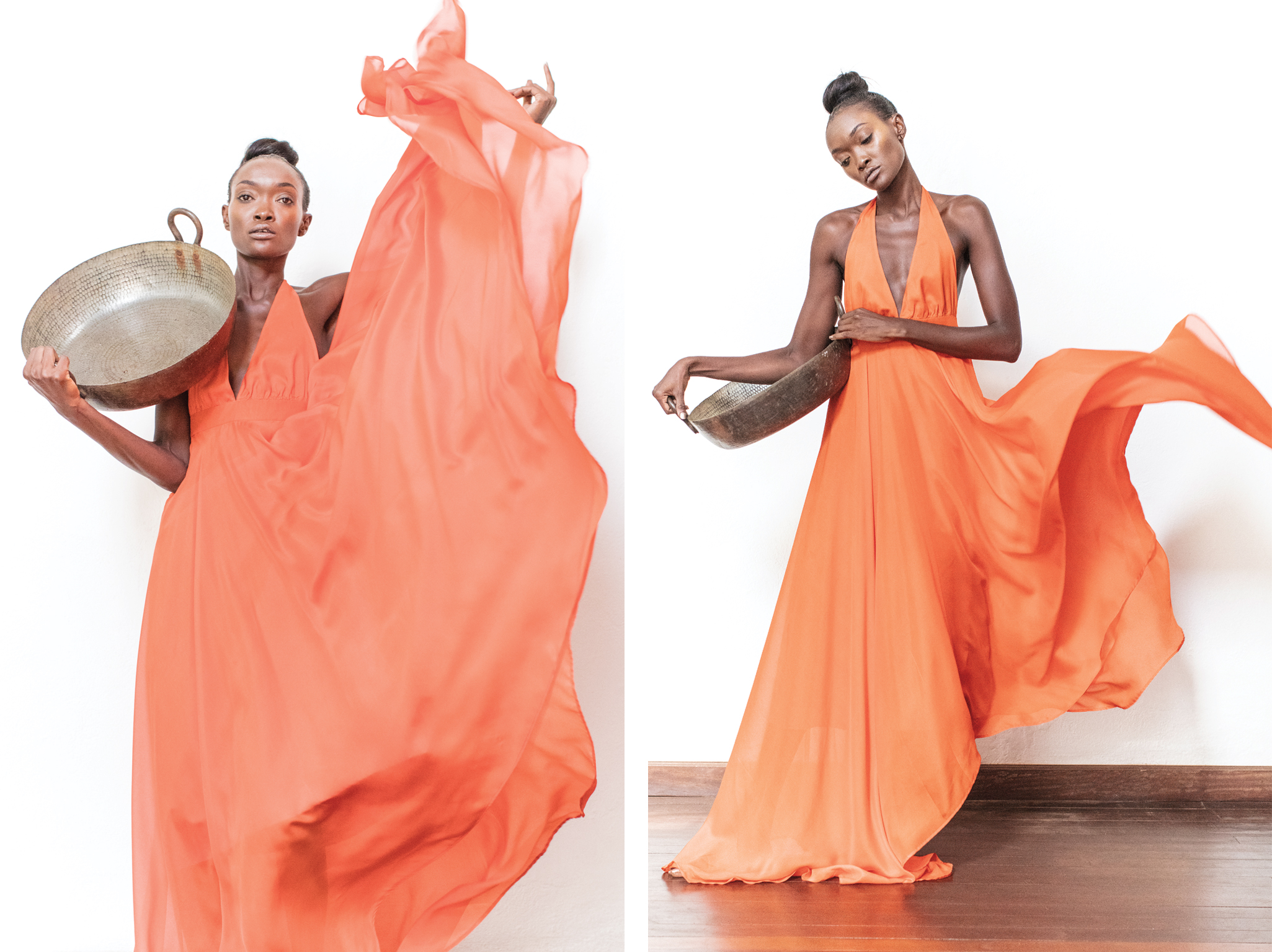 Rose princess gown  – a dress with just the drape and flow you'll want to feel magical! 100% chiffon