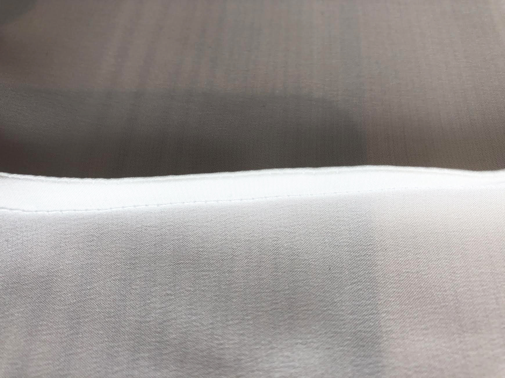 French Seam - Unlike a standard seam, a French seam involves sewing the wrong sides together to achieve a double seam. As pictured to the right.