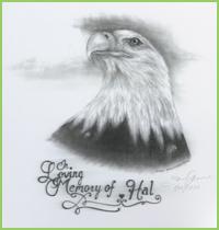 """Commemorative """"In Loving Memory of Hal"""" Print"""