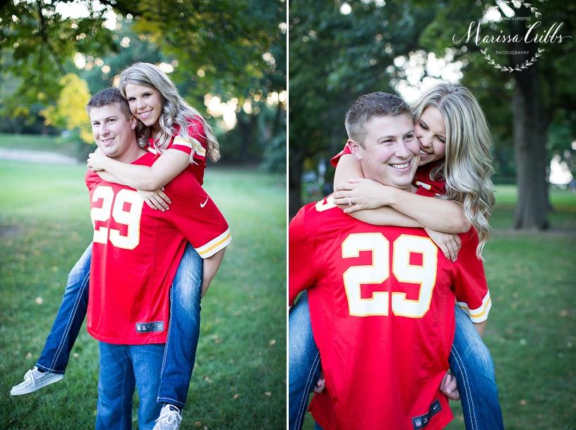 Loose Park Engagement Pictures Kansas City | KC Chiefs