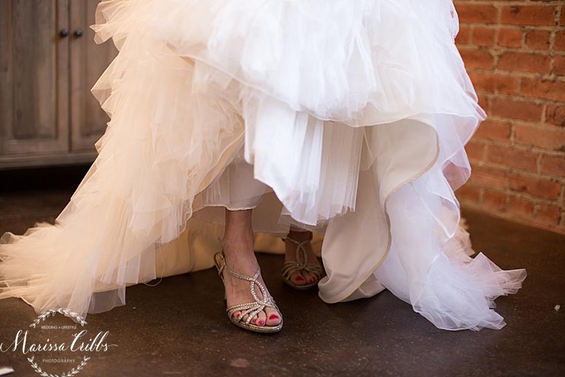 Bridal Shoes | Marissa Cribbs Photography KC Wedding Photographer