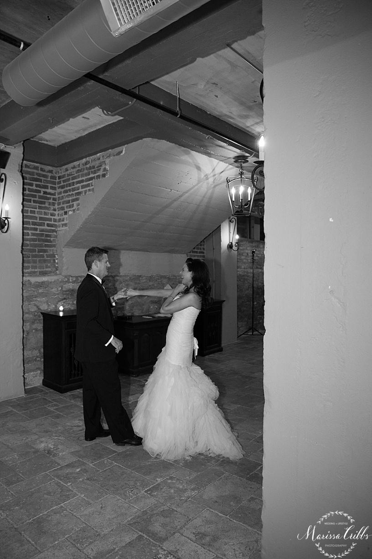 Bride & Groom First Dance | KC Wedding Reception | Cellar 222 | KC Wedding Photographer | Marissa Cribbs Photography