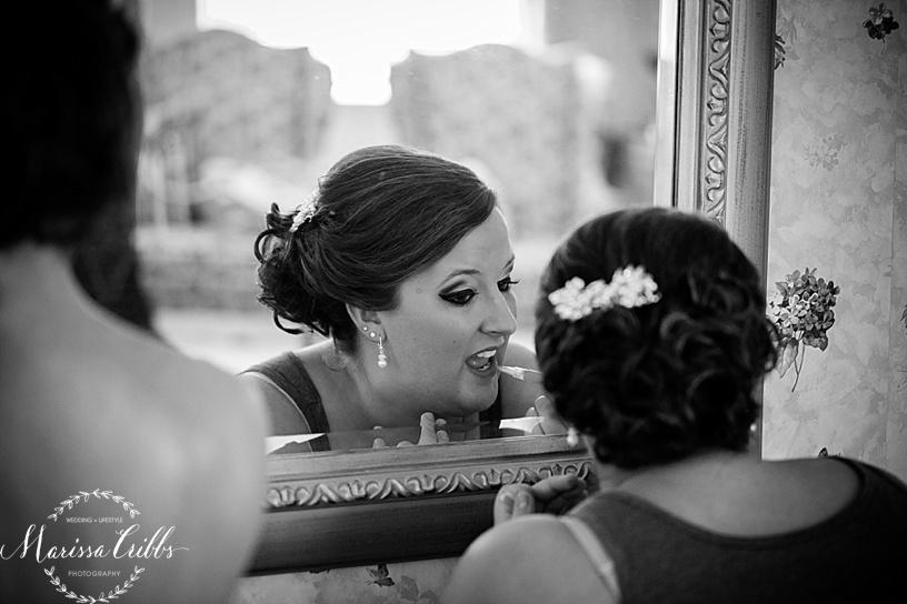 Bride Getting Ready   KC Wedding Photographer   Marissa Cribbs Photography