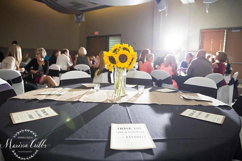 Ball Conference Center   KC Wedding Photographer   Wedding Reception   Marissa Cribbs Photography