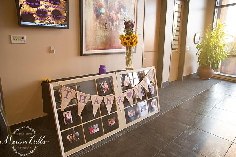 Ball Conference Center   KC Wedding Photographer   Wedding Reception   Marissa Cribbs Photography   Thank You