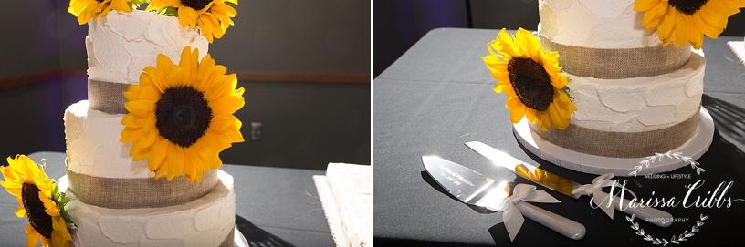 Ball Conference Center   KC Wedding Photographer   Wedding Reception   Marissa Cribbs Photography   Cake Table