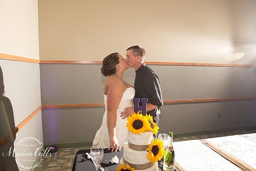 Ball Conference Center   KC Wedding Photographer   Wedding Reception   Marissa Cribbs Photography   Cake Cutting