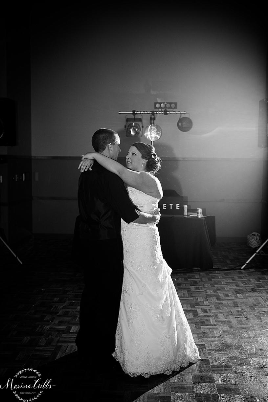 Ball Conference Center   KC Wedding Photographer   Wedding Reception   Marissa Cribbs Photography   First Dance