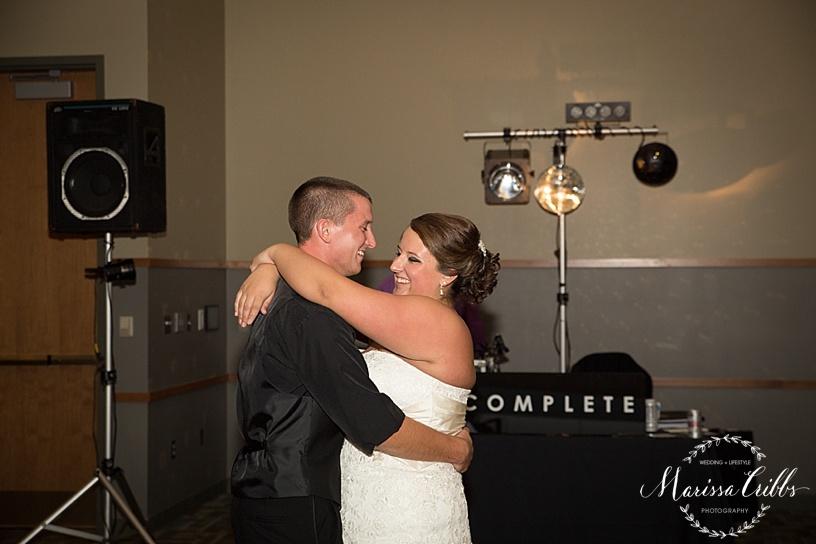 Ball Conference Center   KC Wedding Photographer   Wedding Reception   Marissa Cribbs Photography   Bride and Groom's First Dance