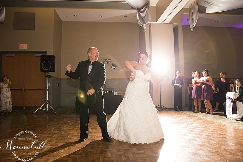 Ball Conference Center   KC Wedding Photographer   Wedding Reception   Marissa Cribbs Photography   Father / Daughter Dance