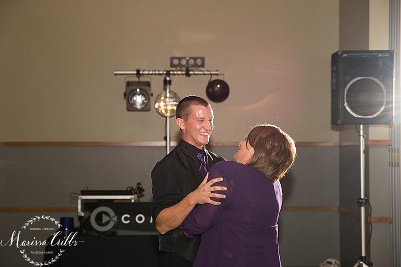 Ball Conference Center   KC Wedding Photographer   Wedding Reception   Marissa Cribbs Photography   Mother / Son Dance