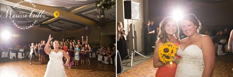 Ball Conference Center   KC Wedding Photographer   Wedding Reception   Marissa Cribbs Photography   Bouquet Toss
