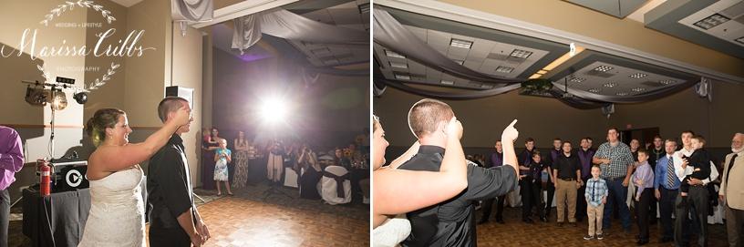 Ball Conference Center   KC Wedding Photographer   Wedding Reception   Marissa Cribbs Photography   Garter Toss