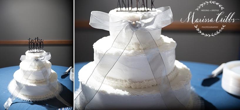 Wedding Cake | Ball Conference Center Reception | Marissa Cribbs Photography