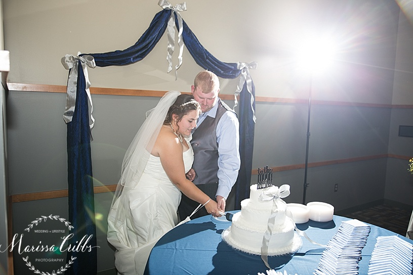 Cake Cutting | Ball Conference Center Reception | Marissa Cribbs Photography