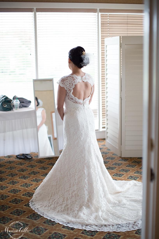 Bride getting ready | Deer Creek Golf Club | Marissa Cribbs Photography