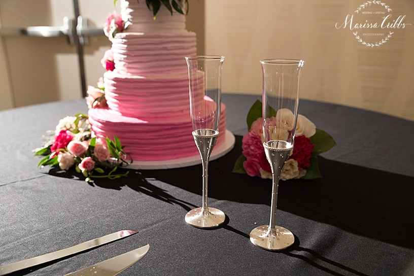 KC Airport Marriott Reception | Marissa Cribbs Photography