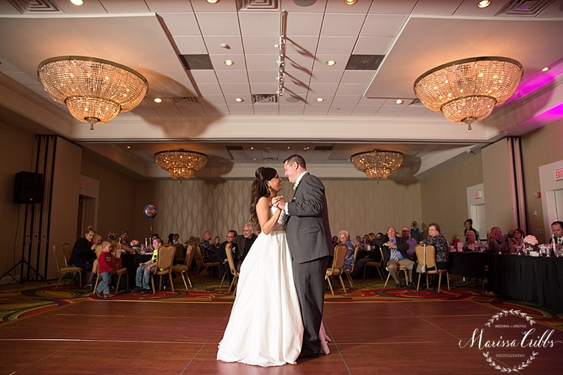 First Dance | KC Airport Marriott Reception | Marissa Cribbs Photography