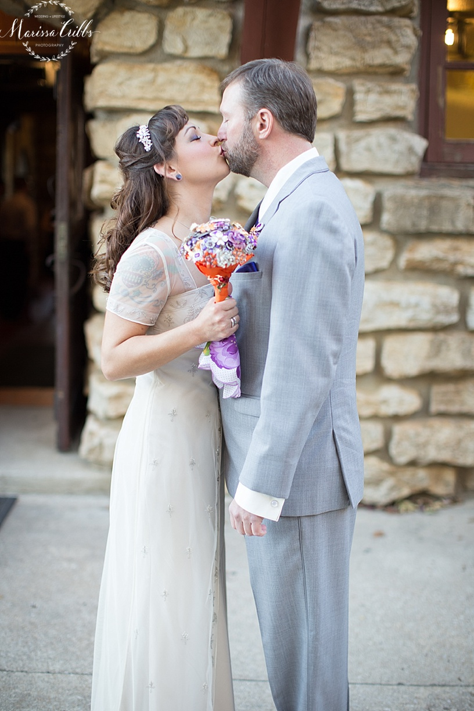 First Look | KC Weddings | James P. Davis Hall