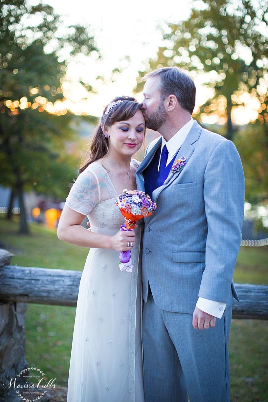 Bride and Groom Portraits | KC Weddings | James P. Davis Hall