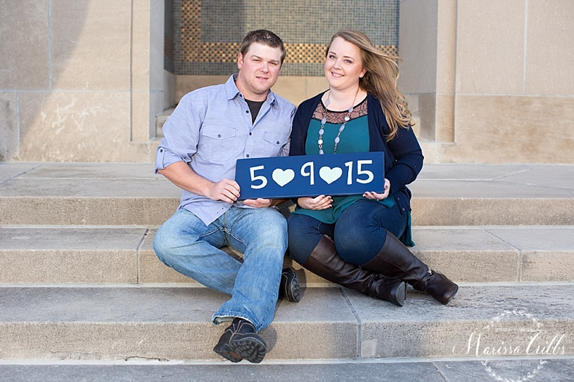 Liberty Memorial Engagement Photos   Marissa Cribbs Photography   Kansas City Engagement Photos