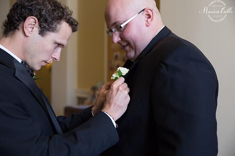 St. Michael The Arch Angel | Leawood, KS | Marissa Cribbs Photography | Wedding Ceremony | Groom Getting Ready