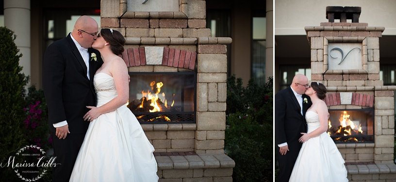 Wedding Reception | The Venue in Leawood | Marissa Cribbs Photography | Fireplace