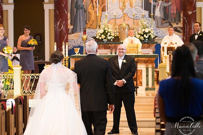 St. Michael The Archangel Wedding Ceremony | Marissa Cribbs Photography