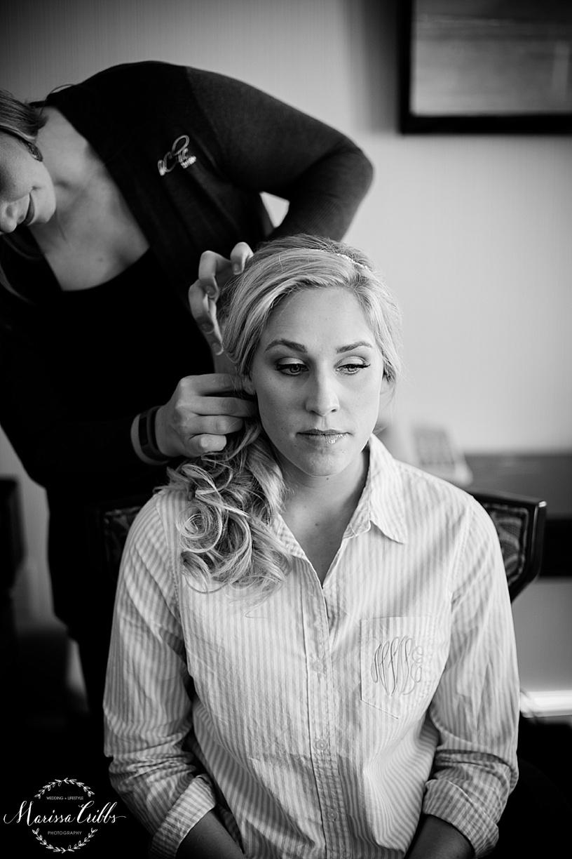Bride getting ready photos   Marissa Cribbs Photography   Be Chic Bride   The Hilton President Hotel Kansas City