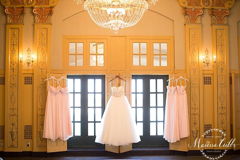 Emily Hart Bridal Gown   The Hilton President Kansas City   Marissa Cribbs Photography   Bella Bridesmaids