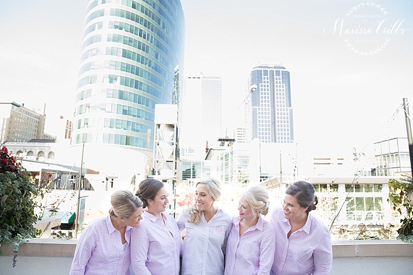 The Gallery Event Space   Bride and Bridesmaids Getting Ready   Downtown KC   KC Power and Light   Marissa Cribbs Photography