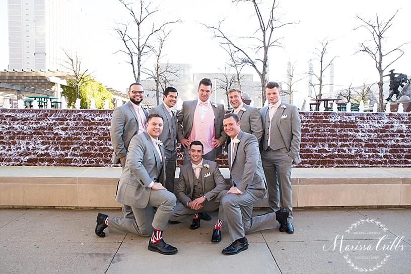 Groomsmen Photos   KC Wedding Photographer   Marissa Cribbs Photography   Downtown KC