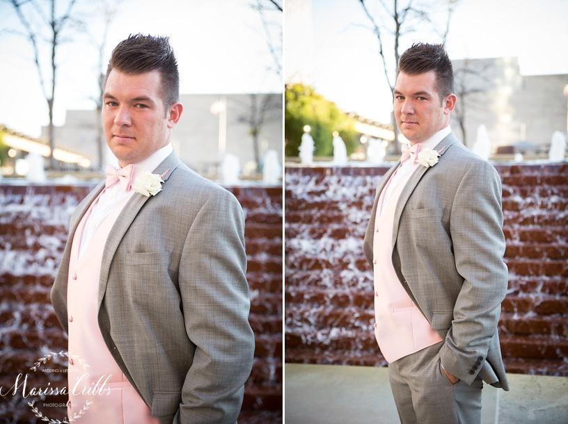 Groom   Marissa Cribbs Photography   Downtown KC   KC Wedding Photographer