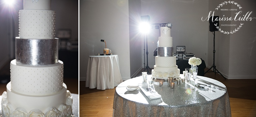 Shannon Bond Cake Design   The Gallery Event Space   Wedding Cake   Marissa Cribbs Photography   KC Wedding Photographer
