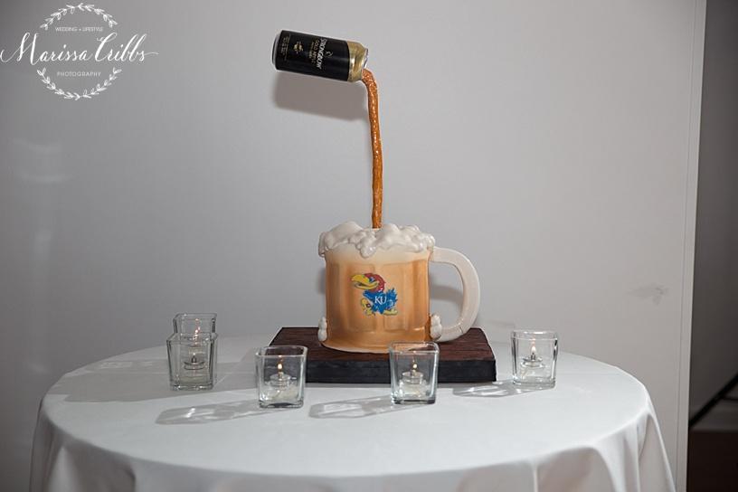 Grooms Cake   Shannon Bond Cake Design   The Gallery Event Space   Wedding Cake   Marissa Cribbs Photography   KC Wedding Photographer