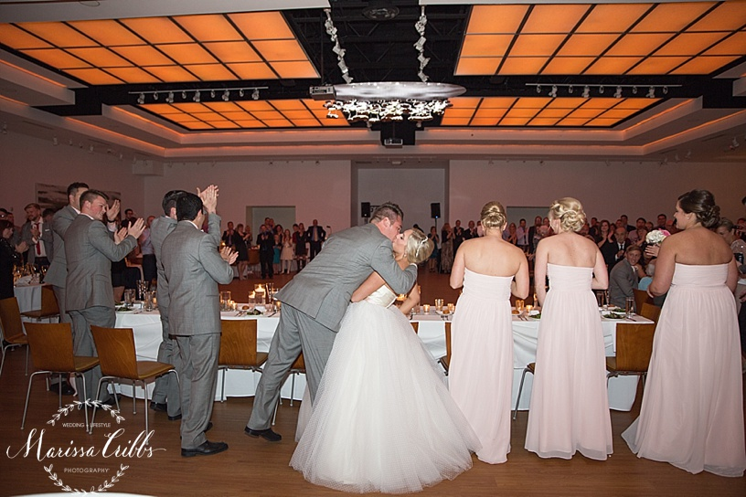 Bride and Groom Introduction   The Gallery Event Space   Marissa Cribbs Photography