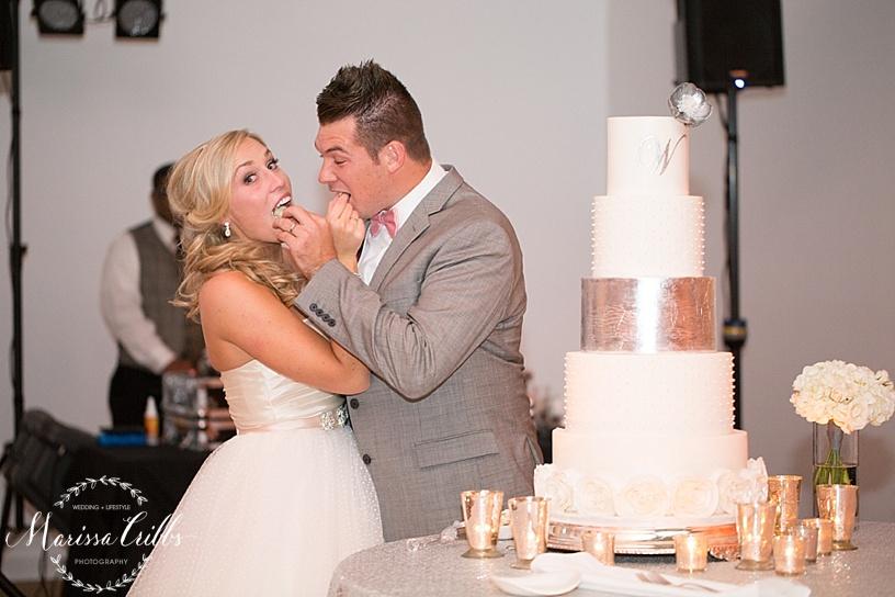 Cake Cutting   Shannon Bond Cake Design   Marissa Cribbs Photography   The Gallery Event Space   KC wedding Photographer